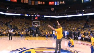 Watch This Warriors Fan Hit A Half-Court Shot And Win A BMW