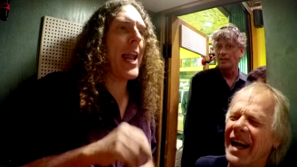 Watch Weird Al Record An A Cappella Version Of 'Yoda Chant' In Jack White's 1940s Recording Booth