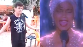 This Guy Utterly Nailed A Karaoke Version Of Whitney Houston's 'I Have Nothing'