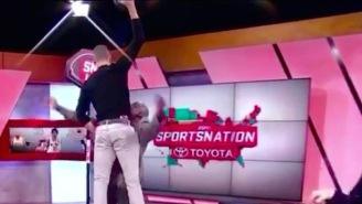 Zach LaVine Climbs Marcellus Wiley For An EPIC Poster During 'SportsNation'
