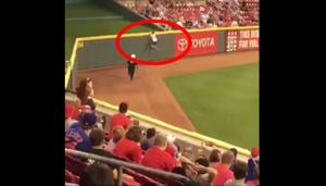 Watch This Fan Rush The Field In Cincy And Somehow Escape Security