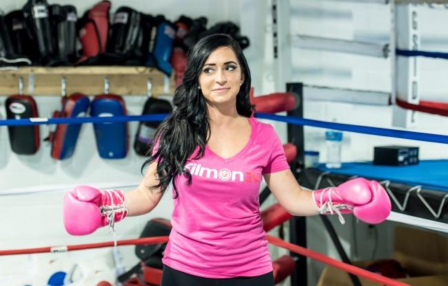 World Xtreme Entertainment Celebrity Boxing Training Session With Angelina Pivarnick