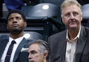 Larry Bird Isn't Interested In Whether Or Not Paul George Wants To Play Power Forward