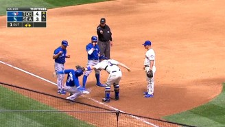 Check Out The Blue Jays Running Themselves Into A Bizarre Triple Play