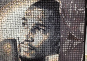 This Boris Diaw Portrait Is Made Of 11,750 Push Pins And A Whole Lot Of Dedication
