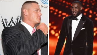 John Cena Says He's Gonna Dribble LeBron's Face 'On The Canvas As If It's A Spalding Basketball'