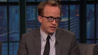 Watch Chris Gethard Talk About His New Talk Show Set Built Out Of David Letterman's Garbage