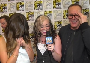 Head banging and shooting sh*t with Clark Gregg and Chloe Bennet of 'Agents of SHIELD'