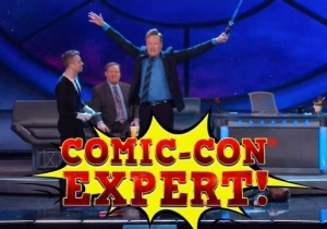 Conan Proved His Nerd Cred By Passing A Comic-Con Citizenship Test