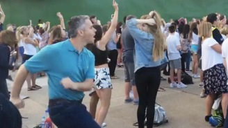 Check Out This Dad's Next-Level Dad Dance Moves At A Boy Band Concert