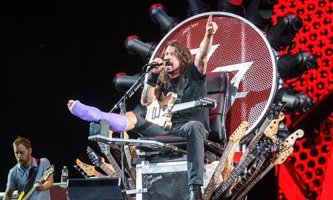 Foo Fighters Perform at the Foo Fighters 20th Anniversary Blowout