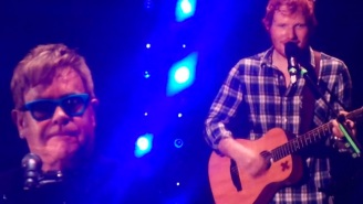 Here's Elton John And Ed Sheeran Jamming To A Cute Rendition Of 'Don't Go Breaking My Heart'