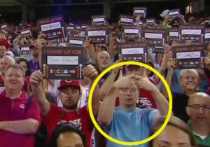 What Was This Guy Doing During The Home Run Derby's Cancer Awareness Moment?