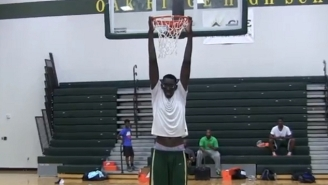 Watch 7'6 Tacko Fall Do A Between-The-Legs Jam While Barely Leaving The Floor