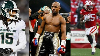 Here's Floyd Mayweather Letting Two NFL Rookies Train In His Gym