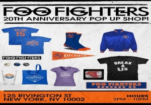 A Foo Fighters Pop Up Shop Has Opened In New York City