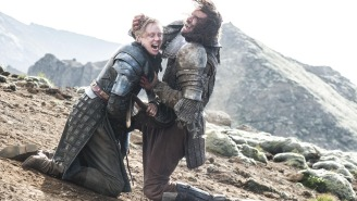 Brienne punched the Hound in his 'intimate' place for real on 'Game of Thrones'