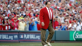 Pete Rose Received A Huge Ovation Before The All-Star Game In Cincinnati