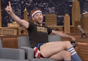 Jon Glaser Got Into The Festive Spirit For The U.S. Women's World Cup Champions