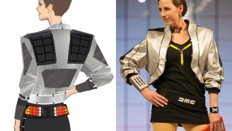 'Back to the Future': Check out this awesome DeLorean-as-couture clothing design