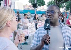 Hannibal Buress Performed A Fur Coat Pimp Walk And Trolled A Vegan PETA Protest