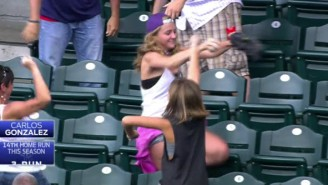 Nobody Celebrates A Home Run Catch Quite Like This Girl