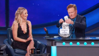 Watch As Jennifer Lawrence Cusses Up A Storm For Charity On 'Conan'