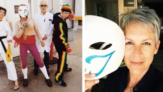 Jamie Lee Curtis Went Undercover As A 'Street Fighter' Character To EVO 2015