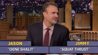 Jason Segel Makes Questlove Lose It During A Game Of Word Sneak On 'The Tonight Show'