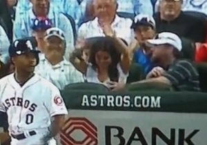 Jeff Bagwell Got Handsy With His Girlfriend Behind Home Plate, And Cameras Caught The Whole Thing