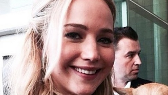 Jennifer Lawrence brought her dog to Comic-Con and we died