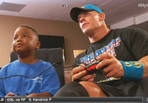 Watch John Cena And WWE Make A Sick Kid's Dream Come True