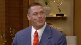 Watch John Cena Decimate Michael Strahan In This Incredibly Awkward Rap Battle