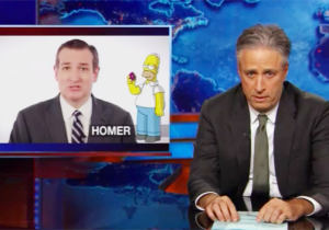Jon Stewart Gives The Proper Reaction To Ted Cruz's Audition For 'The Simpsons'