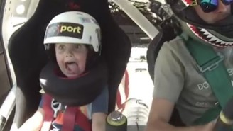The Reaction This 5-Year-Old Has To His Dad's Stunt Driving Is Hilarious