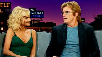 Kristin Chenoweth And Denis Leary Discuss Actors Fondling Each Other On Stage On 'The Late Late Show'