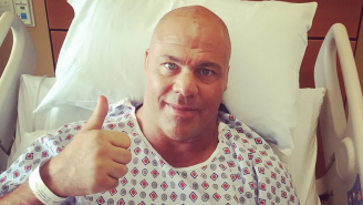 Kurt Angle's Surgery To Remove A Neck Tumor Was A Success