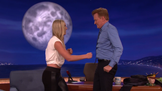 Lindsey Vonn Tested Conan's Ab Strength By Pummeling Him Mercilessly