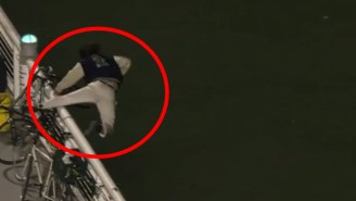 This Crazy Baseball Fan Regrets Nothing After Chasing Home Run Into Water