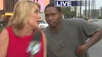 Watch This Reporter's Reaction To This Sly Videobomber