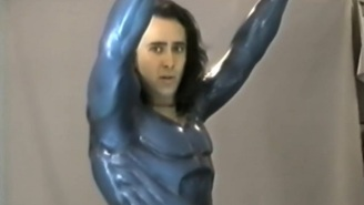 Nic Cage Almost Played Superman, And Here's A Video Of Him In The Superman Suit As Proof