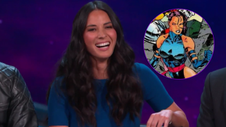 Olivia Munn Needs A Lot Of Lubrication To Slip Into Her 'X-Men: Apocalypse' Costume
