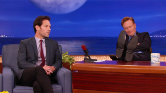 Paul Rudd Kept His 'Mac And Me' Streak Alive On 'Conan' With A Clever Twist