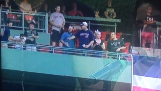 This Red Sox Fan Puked On A Bunch Of People In The Section Below Him