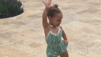 Riley Curry Does 'The Whip' And It's Way Too Adorable