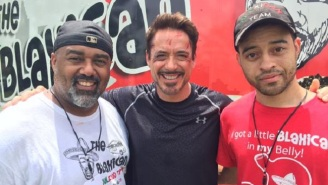 Robert Downey, Jr. Is Getting His Ass Kicked On The Set Of 'Captain America: Civil War'