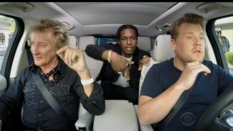 James Corden Picked Up Rod Stewart To Sing Some 'Carpool Karaoke'