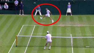 Roger Federer Continues To Amaze With This Running, Between-The-Legs Shot
