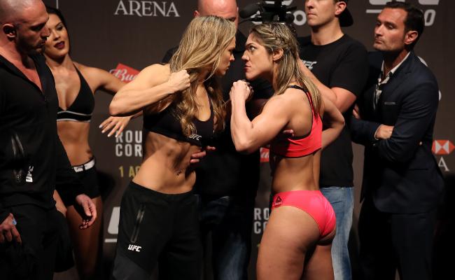 Ronda Rousey Bethe Correia Staredown
