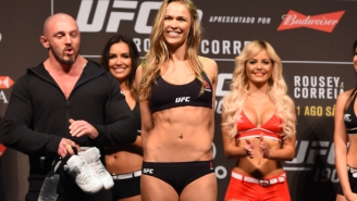 Ronda Rousey Is Unimpressed By Bethe Correia's Crazy Staredown Routine